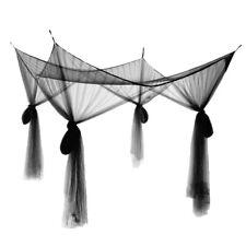 Fine Mesh 4 Corner Post Bed Canopy Hanging Bed Curtain Drape 210x190x240cm