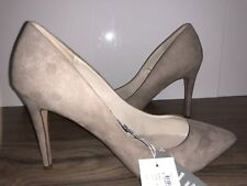 Size AU 11 Pointy High Heels. Fawn Suede Leather Sock