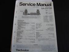 Original Service Manual Technics SA-DV150