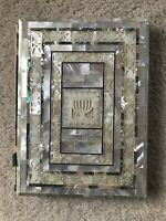 VINTAGE MOTHER OF PEARL & ABALONE ILLUSTRATED Jewish BIBLE Haggadah Antique