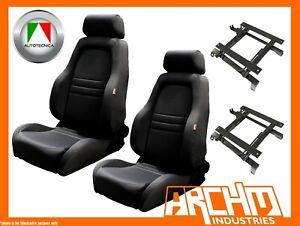 AUTOTECNICA ADVENTURER 4WD 4X4 SEAT CLOTH BLACK - HILUX 1998-2005 ADAPTOR - PAIR