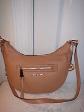 NWT  Michael Kors Rhea Leather Small Messenger Handbag Crossbody Suntan