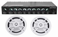 """Memphis Audio MXAEQ7 7-Band EQ Equalizer+(2) 6.5"""" Speakers for Boat/ATV/UTV/RZR"""
