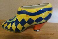 Ceramic Decorative High Heel - Yellow & Blue
