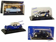 Prize of 4 model Cars PEUGEOT 402 CITROEN Traction FORD Focus SIMCA collectibles