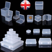 Transparent Square Plastic Jewelry Storage Boxes Beads Crafts Case Containers