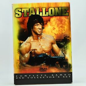 Rambo 1 2 3 Sylvester Stallone DVD Region 1 Good Condition Free Tracked Post