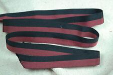 "2 yards 3/4"" 2 tone red black vtg tubular rayon grosgrain ribbon dress straps"