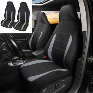 2Pcs Car Front Seat Covers Protector Gray Washable Universal Fit For Truck SUV
