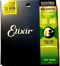 Elixir Guitar Strings Optiweb Electric Light 10-46 Great Tone - Long LIfe