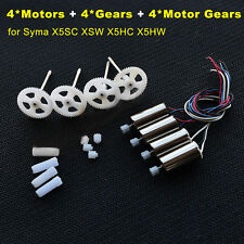 4X~Motor engine & 4x Gears Wheel KIT for Syma X5SC X5SW X5HC X5HW RC SPARE Parts