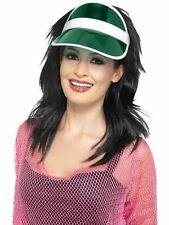 Green Golf Poker Sun Visor Coloured 80s 1980 Fancy Dress Accessory Smiffys 44947