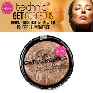 Technic Get Gorgeous Bronze Highlighting Powder- Pressed Contour Bronzer