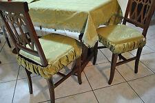 COPRITAVOLO DAMASCATO/DAMASK Table Cover 180X150 cm Verde Arancio Green ITALY