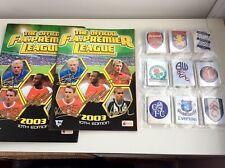 RARE Complete Merlin Premier league 2003 sticker set and empty album - MINT