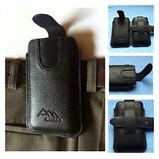 ASSEM genuine leather beltclip case cover Tasche pouch Schutz Hülle Etui Tasche
