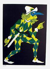 CLIZIA, Arlecchino e C. 5 incisioni originali a colori 1982