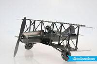 NEW Scrap Metal Handmade Nuts & Bolts Vintage Bi-Plane with Pilot Aircraft Model