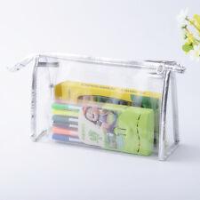 Plastic PVC Clear Transparent Case Cosmetic Make Up Bag Toiletrys Travel Zipper