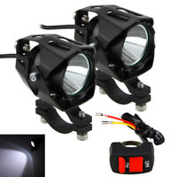 2X 30W Motorcycle Motorbike Spot Lights XM-L T6 LED Headlight Fog Lamp+Switch