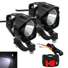 Pair 30W Motorcycle Motorbike Spot Lights XM-L T6 LED Headlight Fog Lamp+Switch