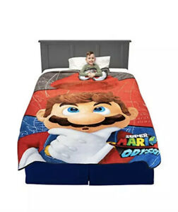 "Franco Kids Bedding Soft Plush Blanket, Twin/Full Size 62"" x 90"", Super Mario"