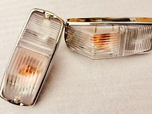 Mg , Mgb gt , mgc ,  Roadster Fr Indicator Lamps Ass clear lens conv draw6a-1