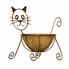 Panacea 86655 Cat Design Planter with Coco Liner, Rust