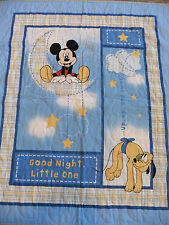 Handcrafted Mickey Mouse Baby Quilt - Stars & Moons Quilted all over - SEE PICS
