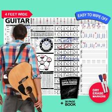 The Creative Guitar Poster (Dry-Erase) + Unlock Your Guitar Super Powers (Book)
