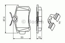 Bremsbelagsatz Scheibenbremse - Bosch 0 986 494 597