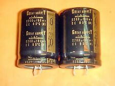 2 X NICHICON GREAT SUPPLY 2200uF 80V ELECTROLYTIC CAPACITOR FOR HI-END AUDIO