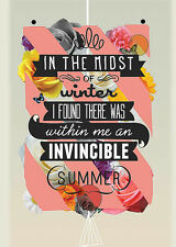 The Invincible Summer Kavan & Company Motivational Typography Print Poster 22x30