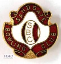 Vintage Sandgate Bowling Club Enamel Badge - QLD