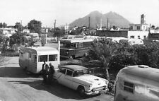Monterrey Mexico Royal Courts Trailer Park Old Cars Trailers Real Photo Postcard