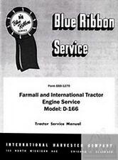 Farmall International 340 540 T-340 TD-340 2504 D-166 Engine Service Shop Manual
