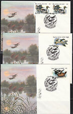 Russia 1991 set of 3 FDC covers Protection of nature Wild Birds,ducks.6009-6011