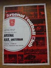 08/04/1970 UEFA [Inter Cities Fairs] Cup Semi-Final: Arsenal v Ajax  (Folded, Ma
