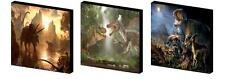 DINOSAURS CANVAS ART BLOCKS/ WALL ART PLAQUES/PICTURES