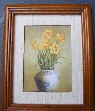 1:12 Scale Picture (Print) Of A Vase Of Daffodils Dolls House Miniature Painting