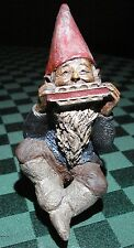 TOM CLARK GNOME WOODSPIRIT BENCH SITTER JOHNNY W/COIN ED #10 1984 SIGNED & DATED