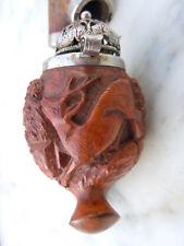 Pipe en bruyère sculptée décor de chamois signée Lorenz