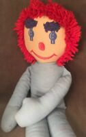 """Unique OOAK Dance With Me Homemade Creepy Raggedy Andy Doll Plush 31"""" Annabelle"""