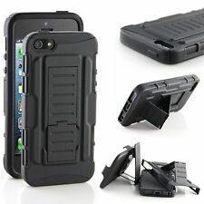iPhone SE / iPhone 5 / iPhone 5S Case, Armor Kickstand with Clip Case - Black