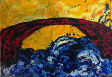 Acryl-Gemälde ca. 100 x 70 x 1,8 cm  Acrylbild Acrylmalerei