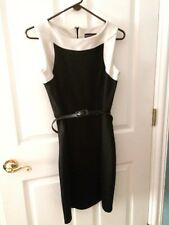 Dana Buchman Womens Dress size 6 black cream sleeveless office dress