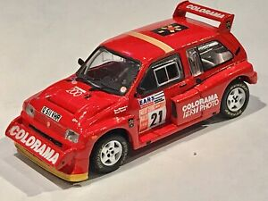 IXO 1/43 MG Metro 6R4 Derek Tyndall 1990 Ouest Liège Rally Code3 Groupe B