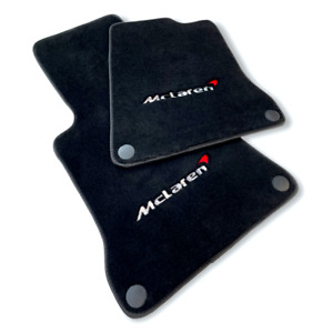 Floor Mats For McLaren MP4 12C Tailored Carpets Set With McLaren Emblem LHD