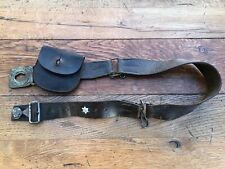 More details for early 1900s girl guide belt and pouch . ( non association )