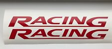Racing 2 x logo 290mm decal graphics stickers  JDM for Ford Cars Drift Race
